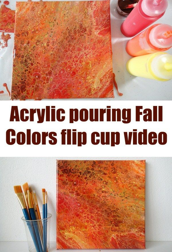 Autumn Or Fall Warm Colors In A Flip Cup Simple Acrylic