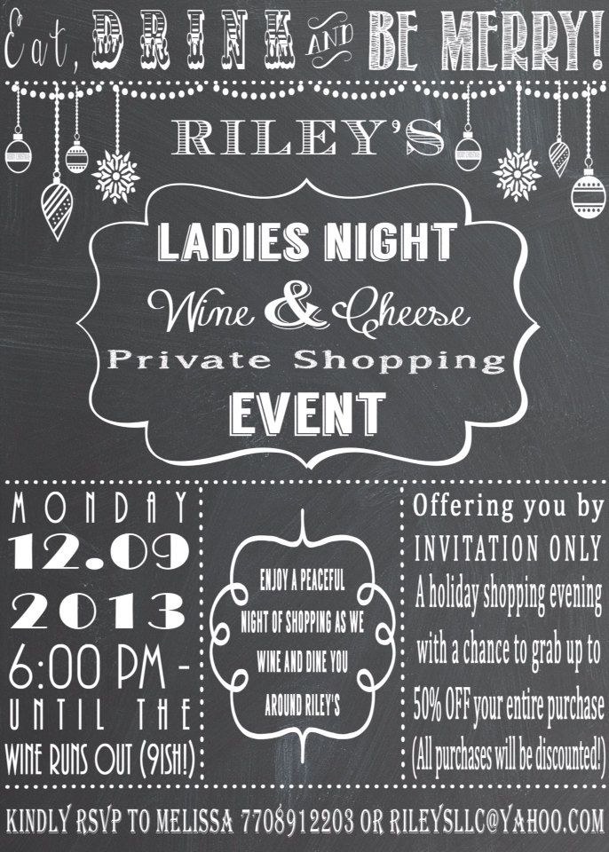 Chalkboard Wine Party Invitation Printable Holiday Wine Cheese