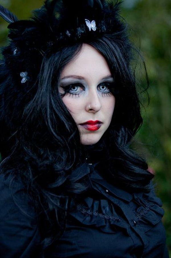 romantic goth girls gothic hairstyles