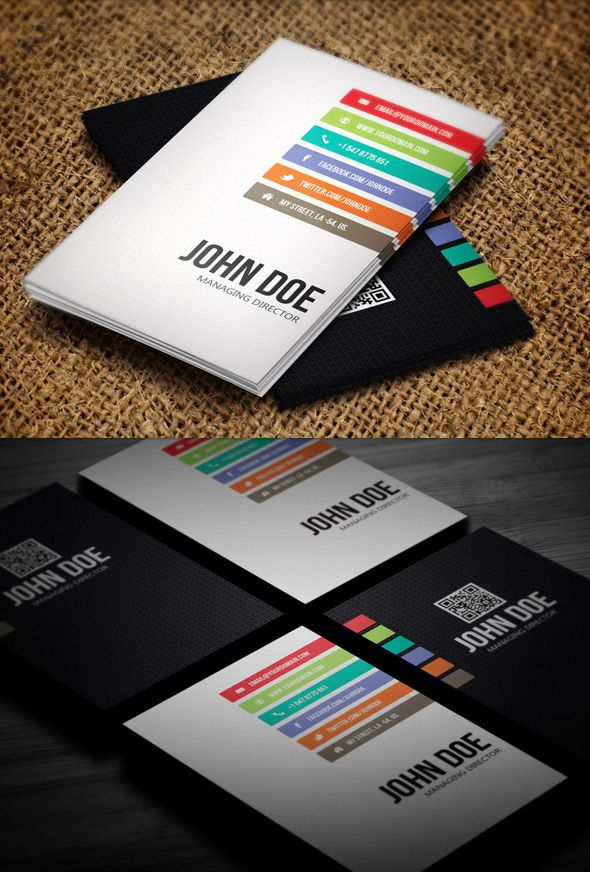 Minimal business card photoshop design | Business Card | Pinterest ...