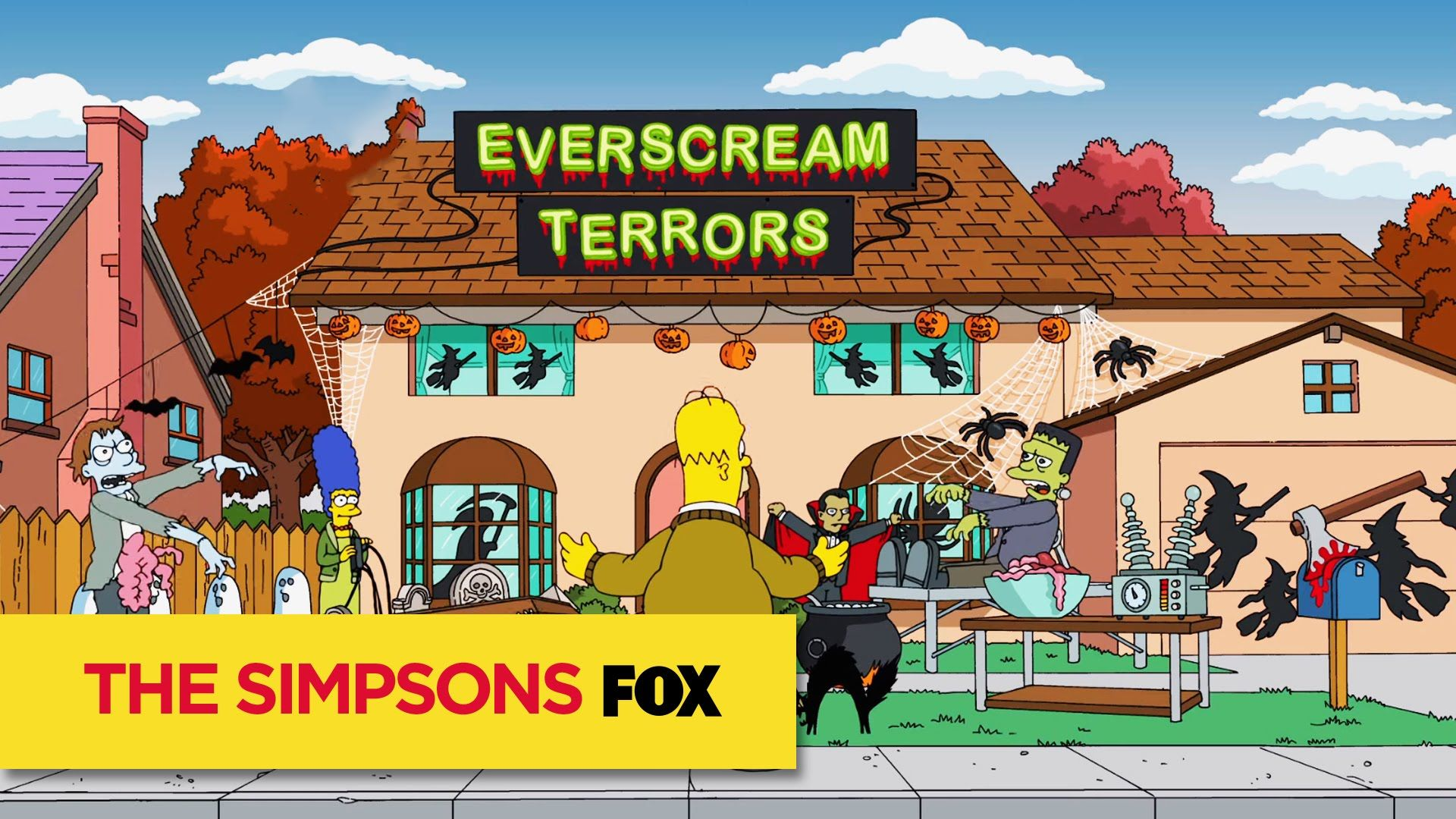 When Lisa becomes scared at the Krustyland Halloween Horror Night, Homer is forced to take down his Everscream Terrors decorations. Halloween pop-up employees s…