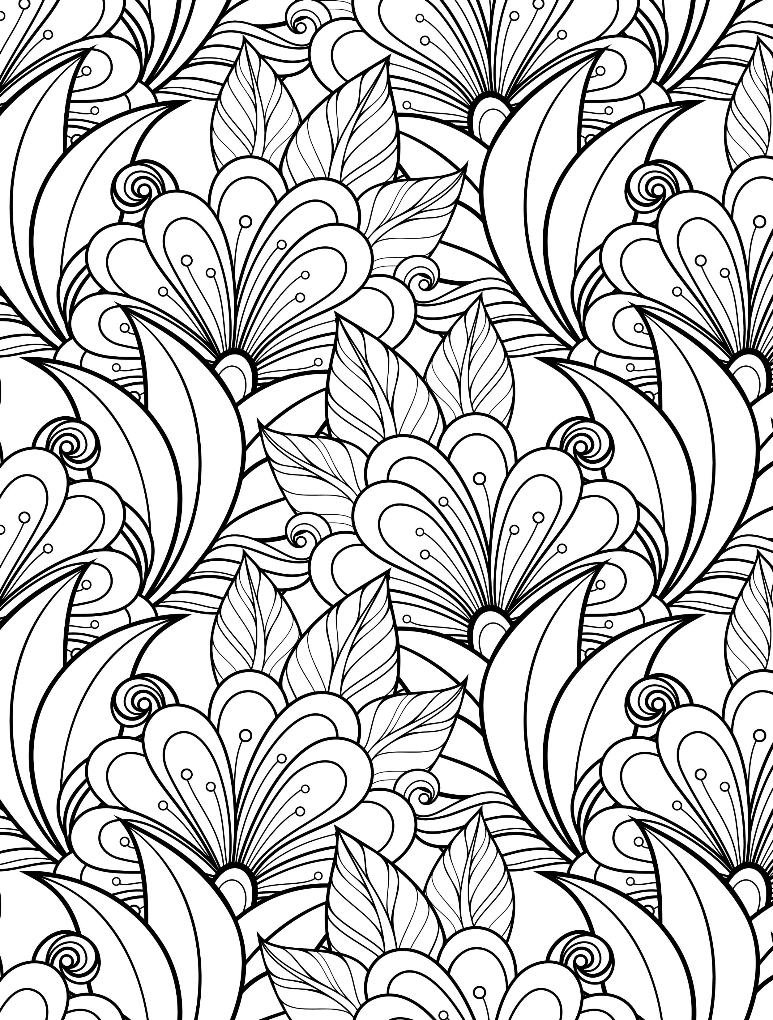 24 More Free Printable Adult Coloring PagesADULT FLOWERS COLORING ...