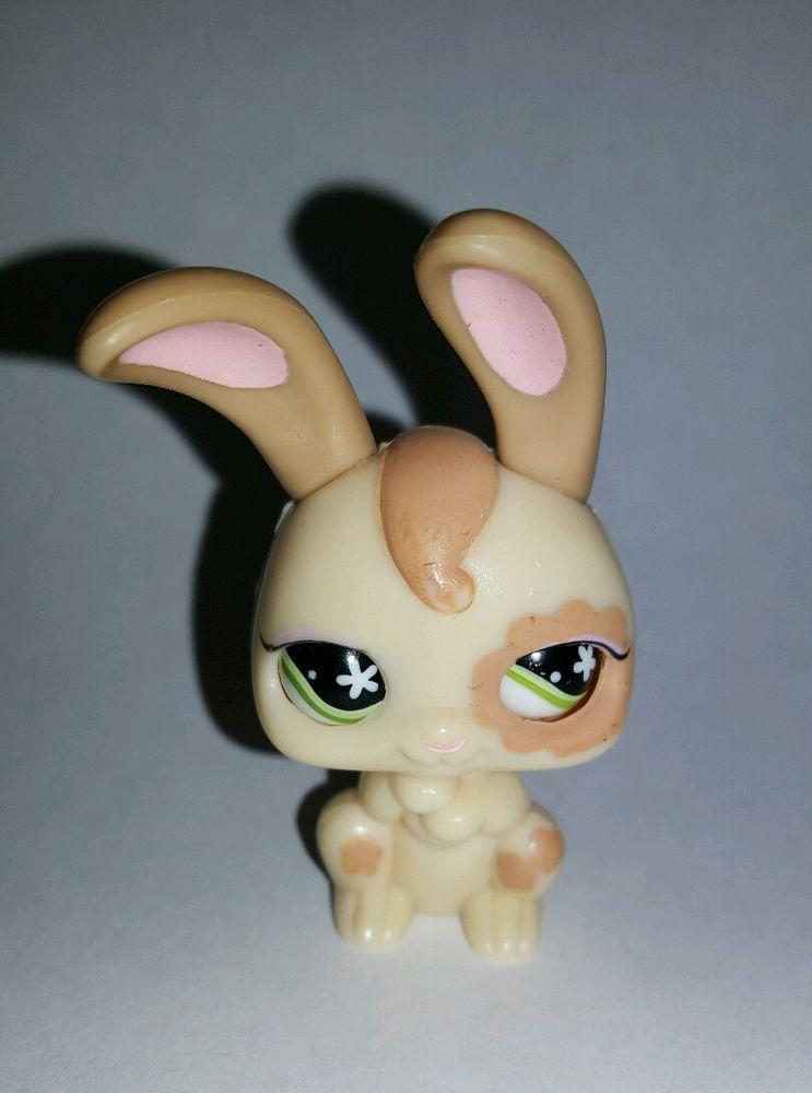 Littlest Pet Shop Magic Motion Bunny Rabbit Green Eyes #488 Preowned LPS in Toys & Hobbies, Preschool Toys & Pretend Play, Littlest Pet Shop   eBay