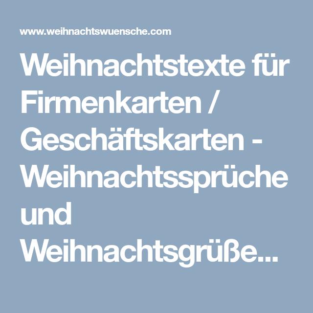 Weihnachtstexte für Firmenkarten / Geschäftskarten - Weihnachtssprüche und WeihnachtsgrüßeWeihnachtswuensche.com