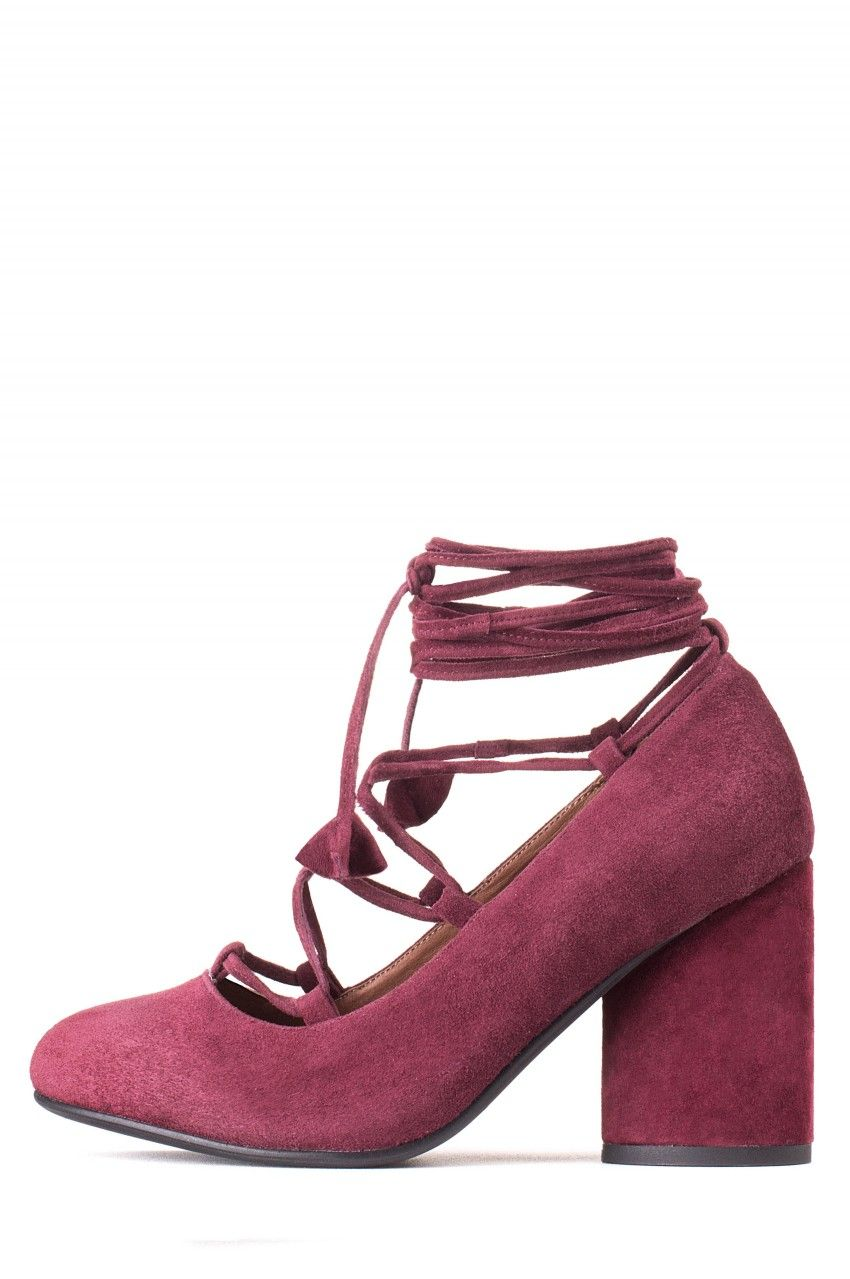 Jeffrey Campbell Shoes ZAUN Red in Wine