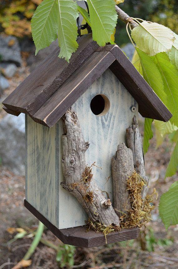 cabane d 39 oiseaux jardin rustique fait main par birdhousesbymichele oiseaux pinterest. Black Bedroom Furniture Sets. Home Design Ideas