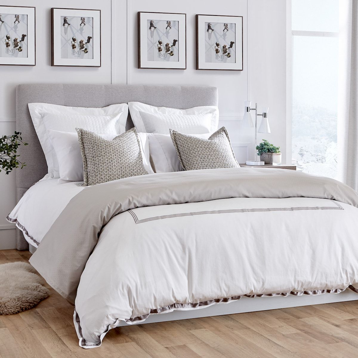 Linen Chest Palace Hotel Bedding Collection Sheet Set Double Silver In 2020 Hotel Bed Hotel Collection Bedding Bedding Collections