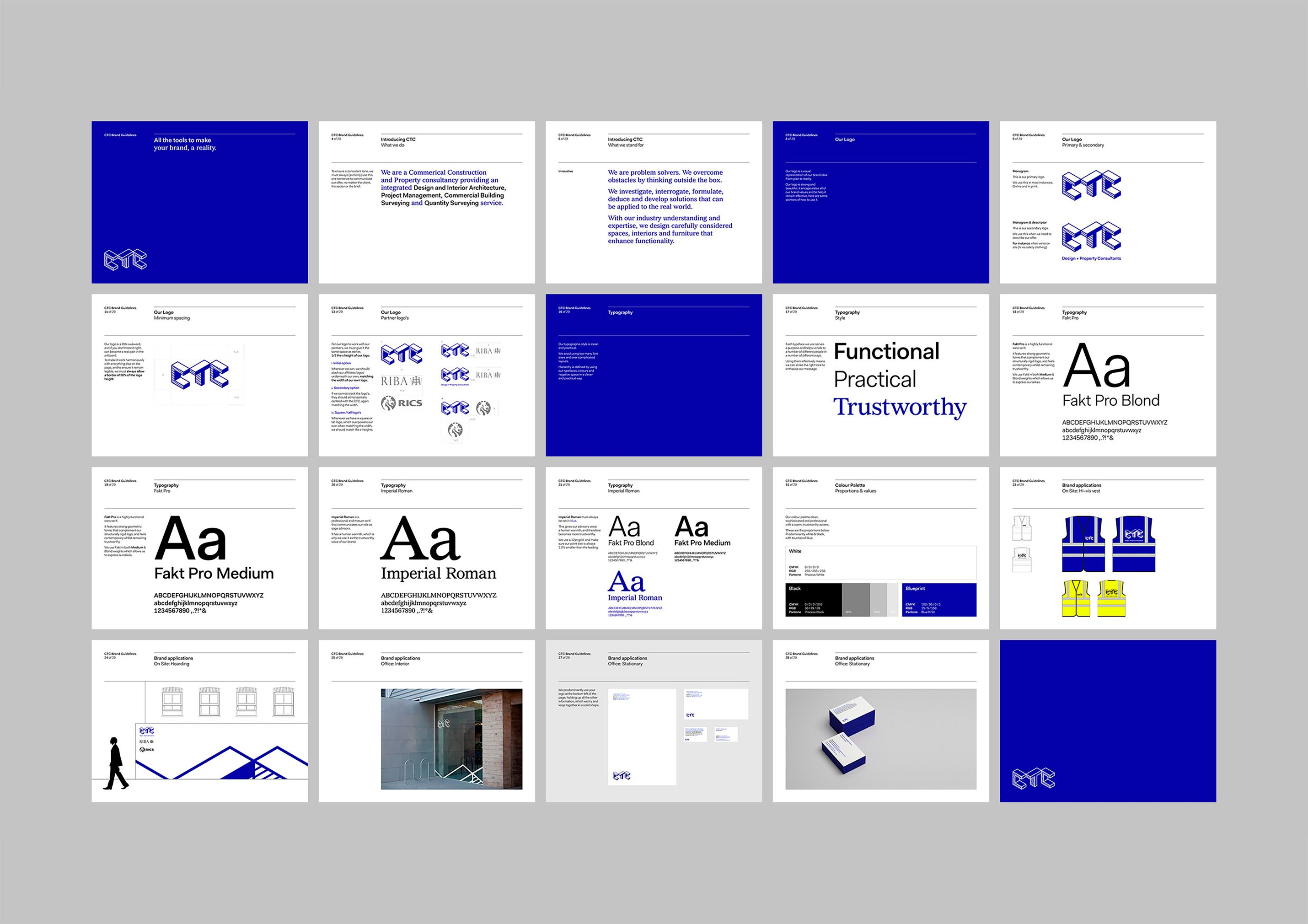 CTC Branding & website for a construction company