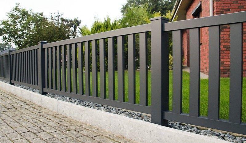 Alu Vorgartenzaun Anthrazit Online Kaufen In 2020 Vorgarten Zaun Eingangstor Design Zaun