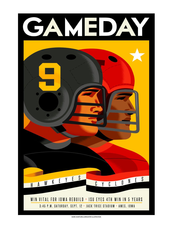 posters gameday iowa hawkeye covers