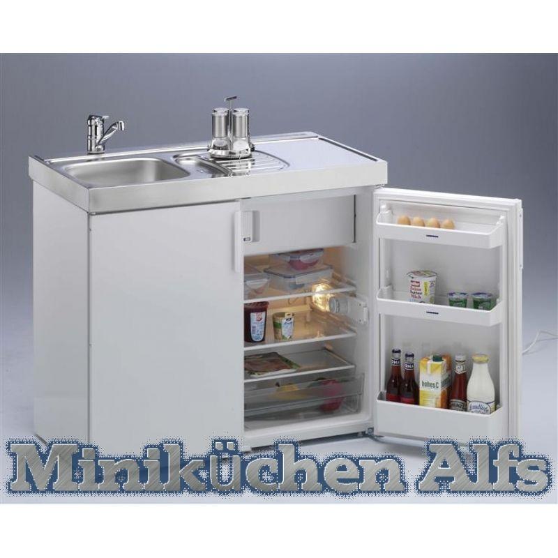 Miniküche Singleküche weiss MK 100 Liebherr küche susi - miniküche mit kühlschrank
