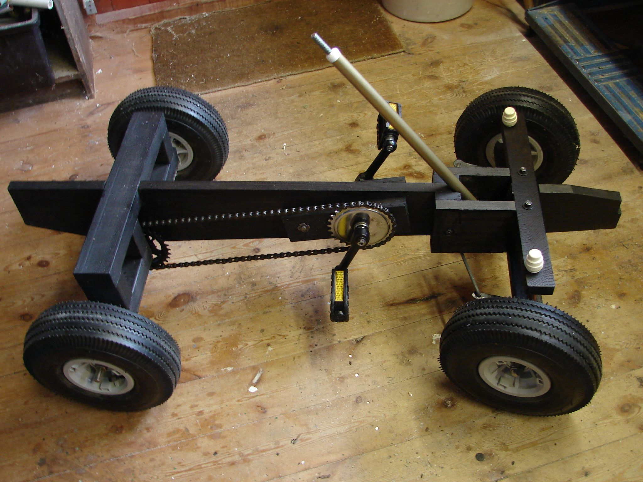 Wood Pedal Car : This page follows my ideas for the build including what