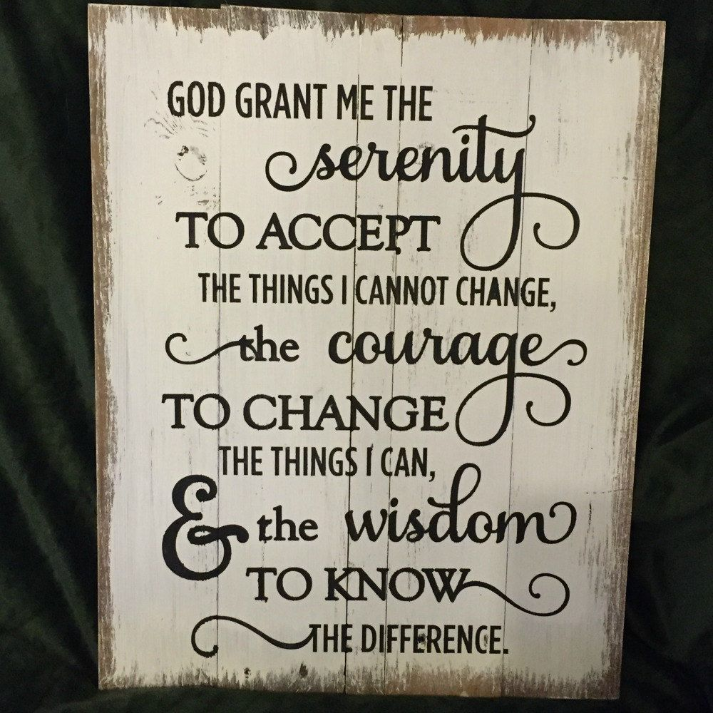 Rustic Wall Decor Signs Serenity Prayer Religious Art Recycled Pallet Courage