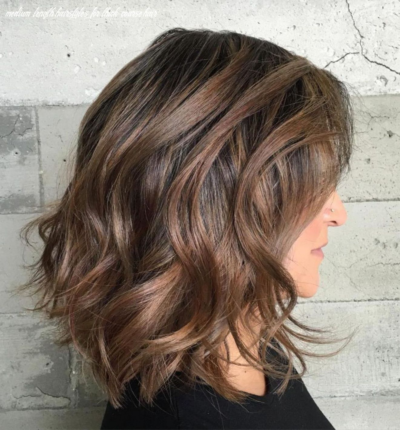 9 Medium Length Hairstyles For Thick Coarse Hair In 2020 Haircut For Thick Hair Wavy Hairstyles Medium Thick Hair Styles