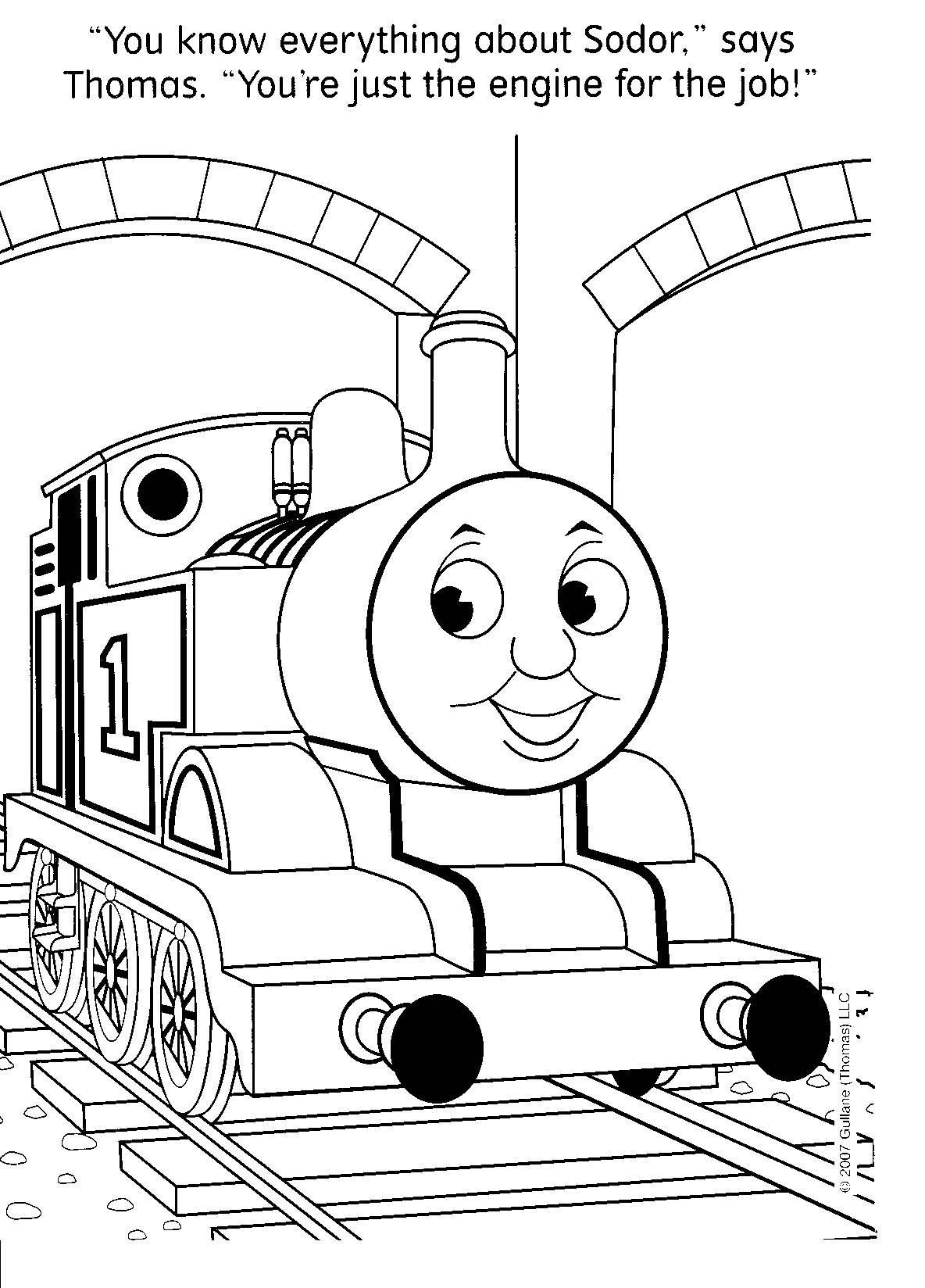 Image Detail For Free Thomas The Train Coloring Pages Could Be