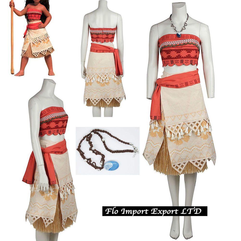 Vaiana Vestito Carnevale Donna Bambina Cosplay Dress Moana Costume VAIDR02 | Ropa, calzado y accesorios, Disfraces, teatro, representación, Disfraces | eBay!