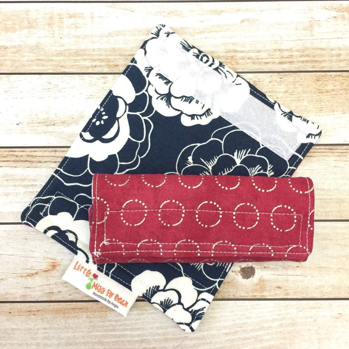 Luggage Handle Wrap Covers Set of 2 by LittleMissPoBean on Etsy