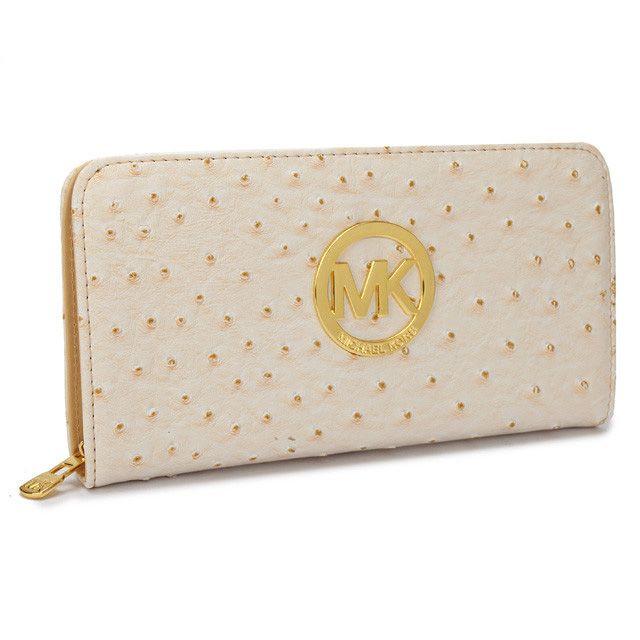 michael kors jet set ostrich-embossed logo large red wallet