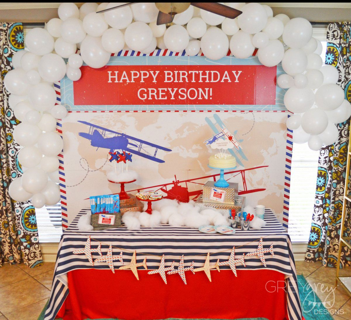 Time Flies Airplane Birthday Party Ideas Shindigz Bryce Takes 2