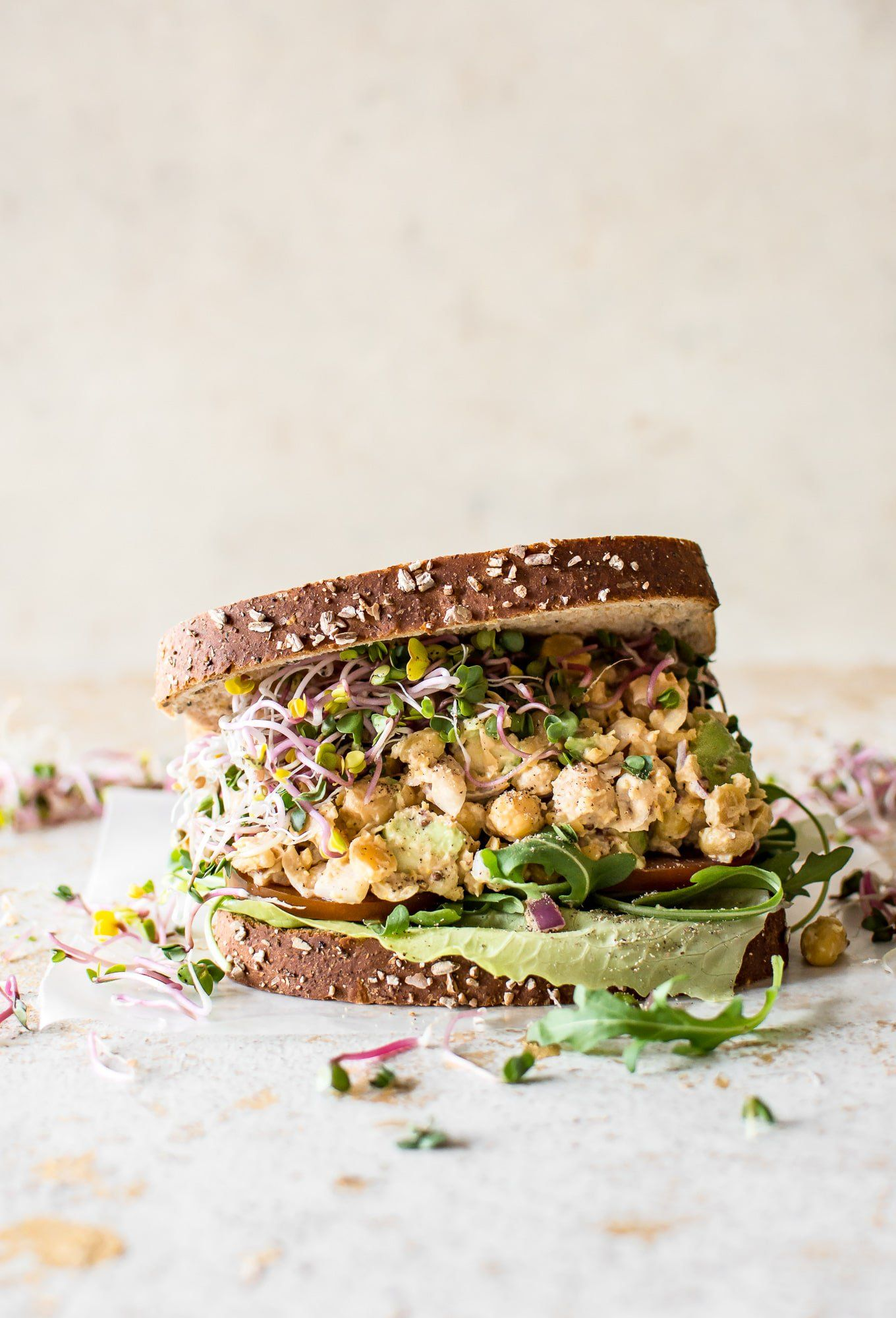 ... chickpea salad sandwich ...