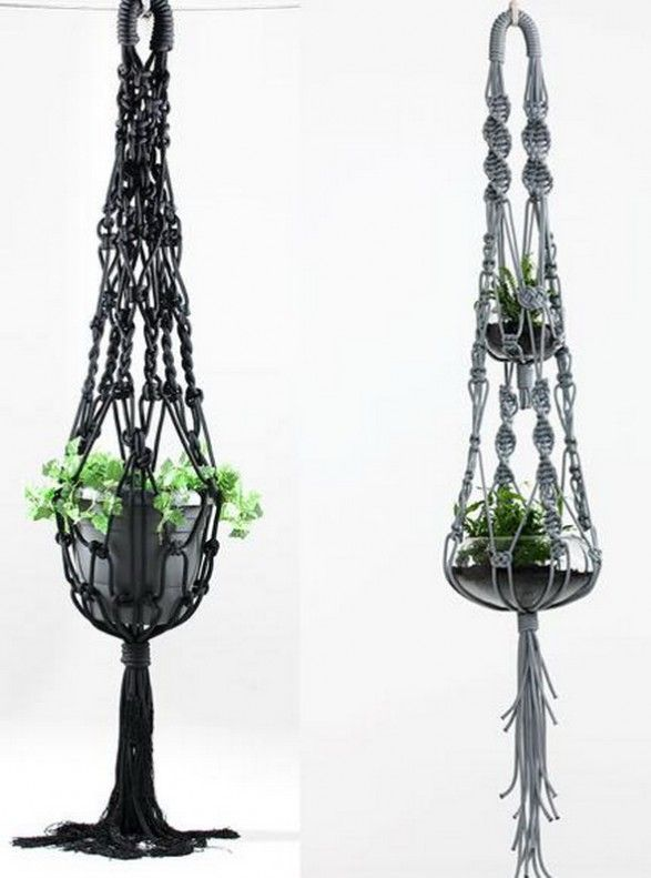 macrame diy furniture pinterest blumenampel garn. Black Bedroom Furniture Sets. Home Design Ideas