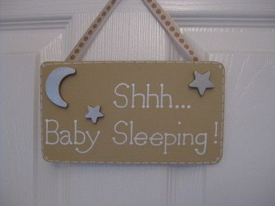 Shhh Baby Sleeping Sign Would Love One For Our Front Door To