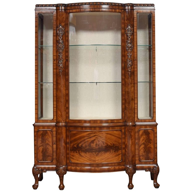1stdibs Cabinet - Revival Bow Fronted Display British ...