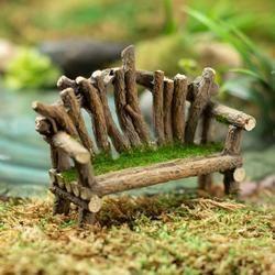 Miniature Fairy Garden Twig Bench - Fairy Garden S