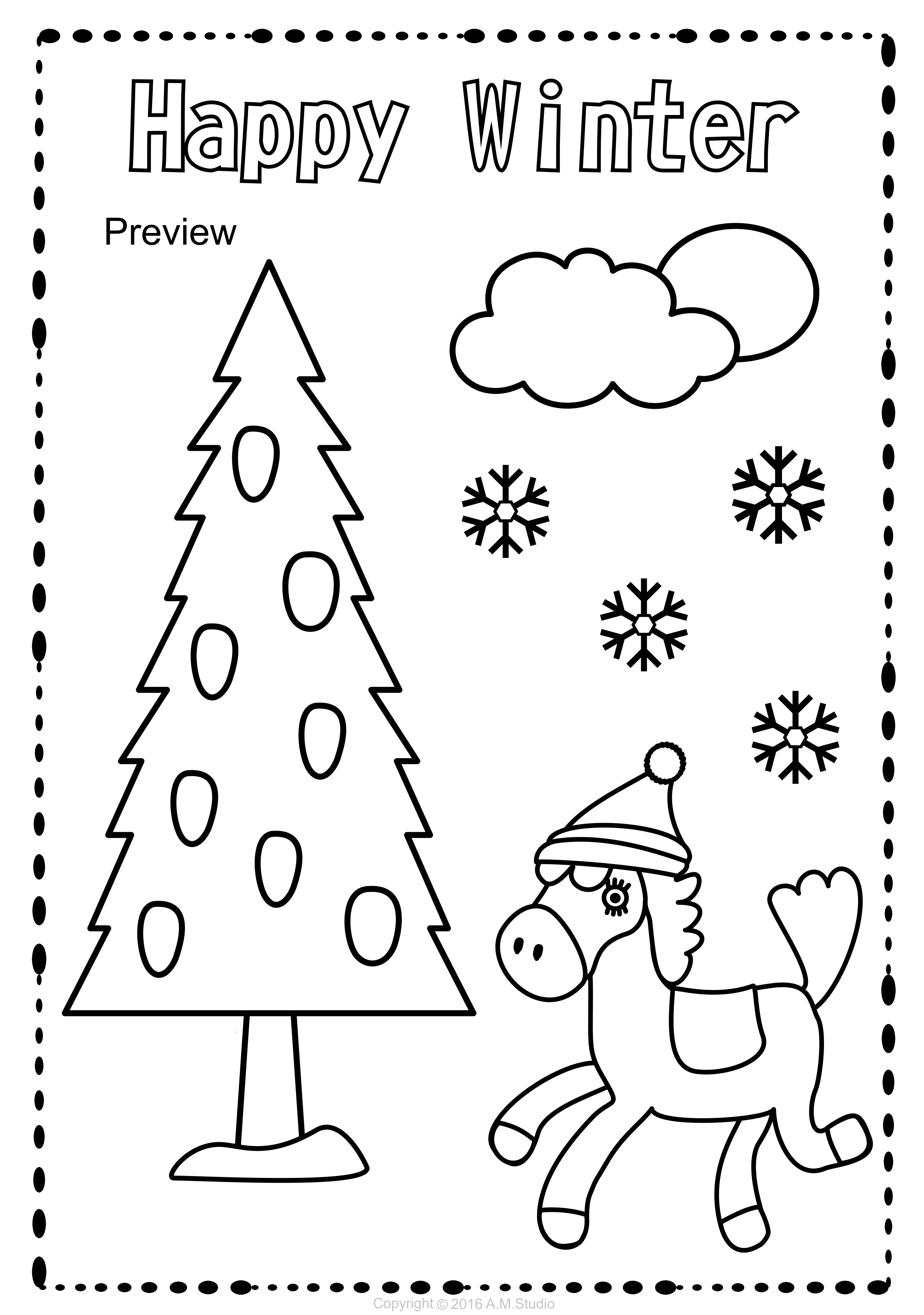 Winter Coloring Pages With Images