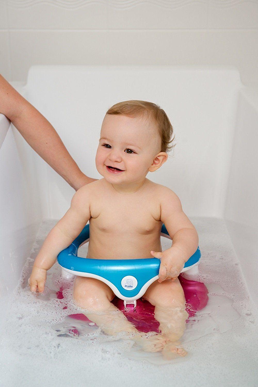 Rotho Babydesign Baby Badesitz Sitz In Raspberry Aquamarine Perl Weiss Mit Aufklappbarem Ring Inkl Kindersicherung Fur Ein Stressfreies Und Komfortables Ba