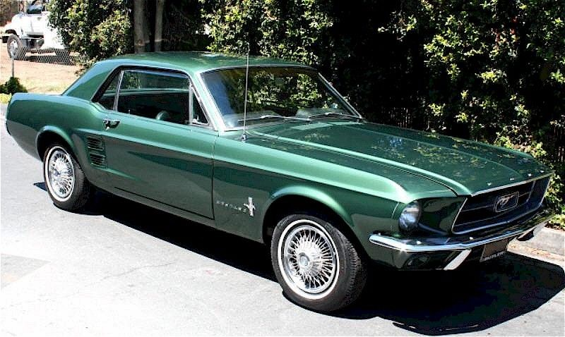 1967 Mustang Paint Colors Dark Moss Green