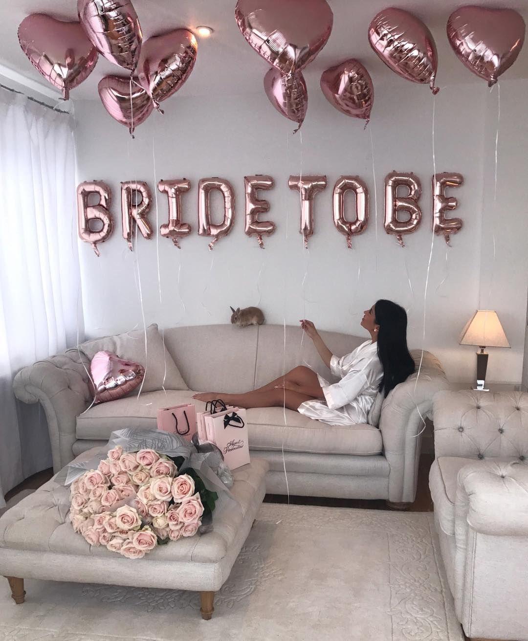 Living room decor| Letter balloons| Wedding ideas| bachelorette ...