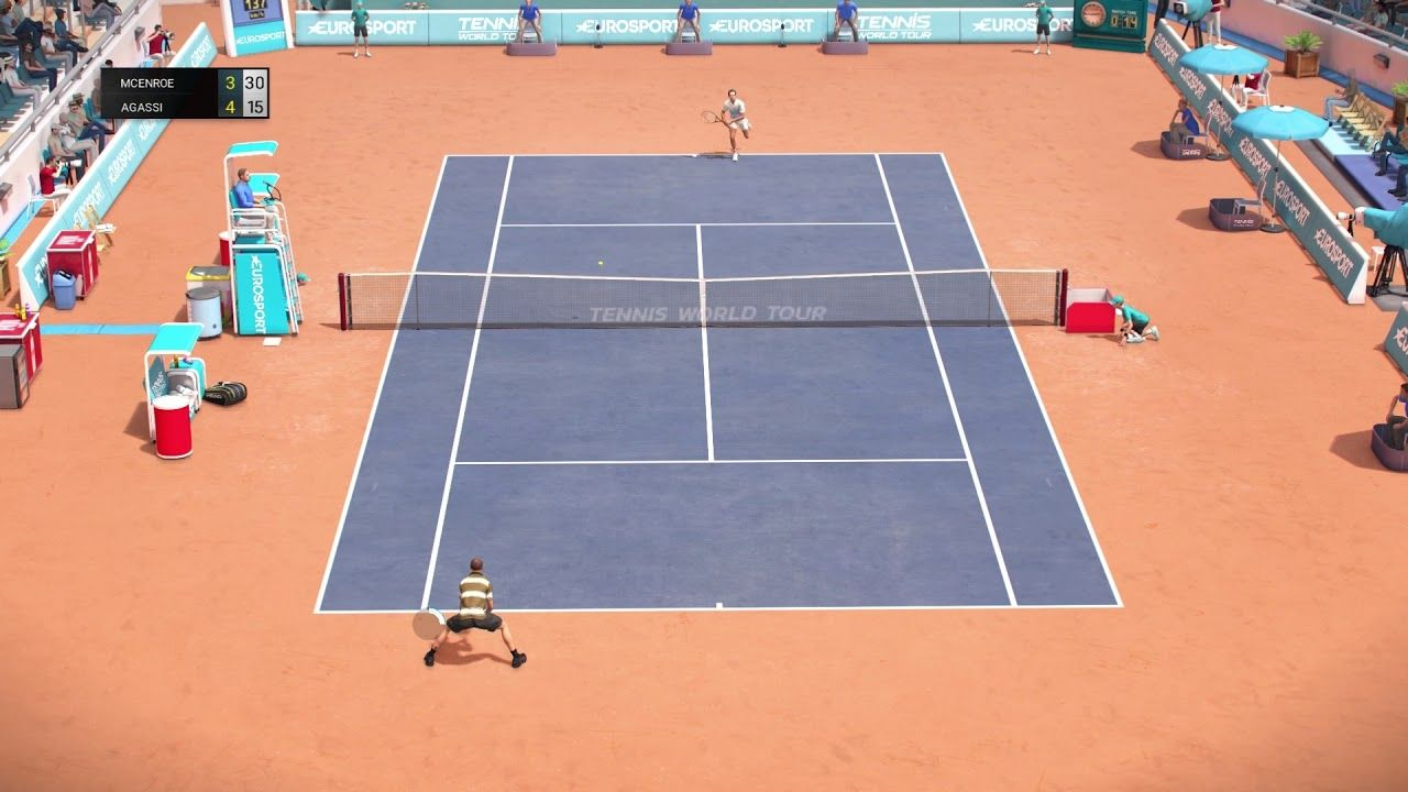 Tennis World Tour John Mcenroe Vs Andre Agassi Gameplay Legends Edition