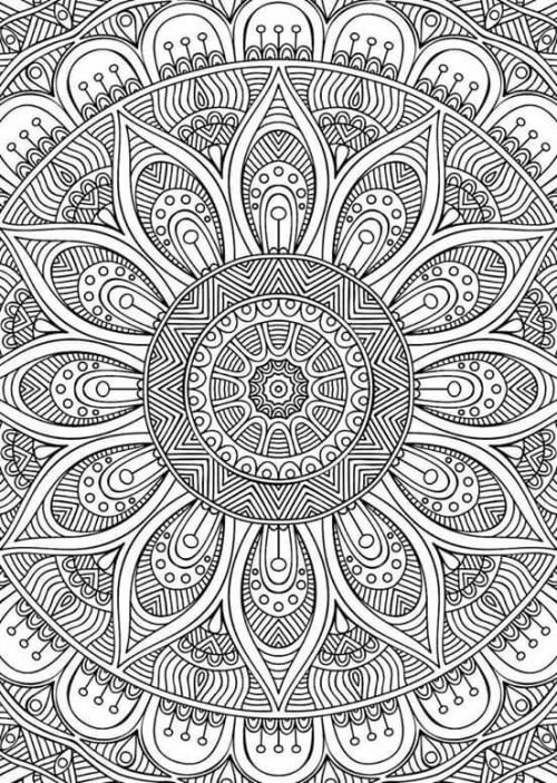 adult coloring mandala | Tumblr | Mandala coloring pages ...