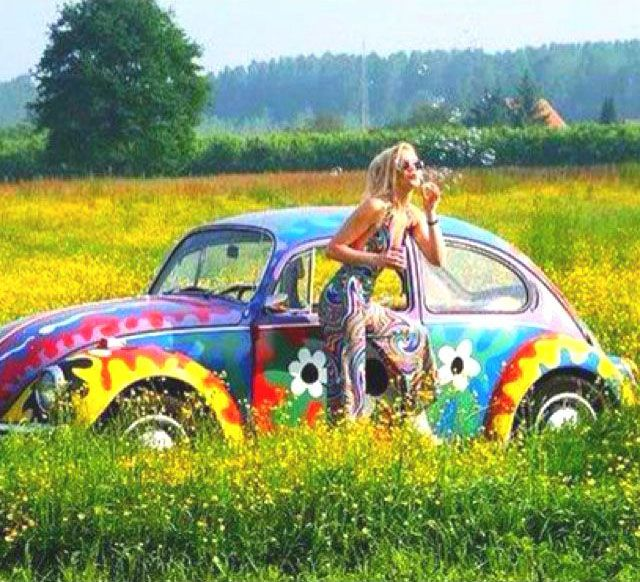 Volkswagen Beetle Retro 4k Hd Wallpaper: Flower Power Vehicle Wrap - Retro