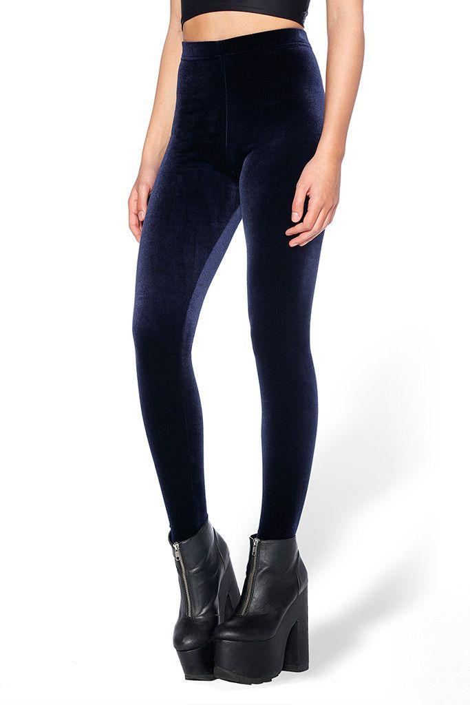 3ef994cd15ead2 Velvet Deep Blue High Waisted Leggings - Limited | Colder weather ...