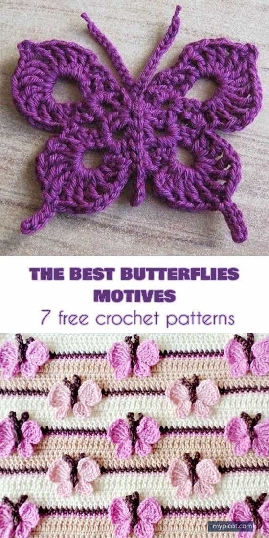 The Best 10 Butterfly Motifs and 7 Crochet Patterns Free #crochetmotif The Best ... -  The Best 10 Butterfly Motifs and 7 Crochet Patterns Free #crochetmotif The Best 10 Butterfly Motifs - #2015WeddingDresses #Butterflies #butterfly #crochet #crochetmotif #CuteDogs #FREE #Insects #Mammals #motifs #patterns #Pets #WeddingDresses