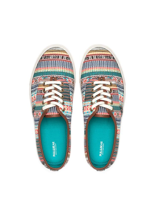 ETHNIC PLIMSOLLS - NEW PRODUCTS - WOMAN - PULL BEAR Thailand Best Basketball  Shoes, Plimsolls, babc009d7ce