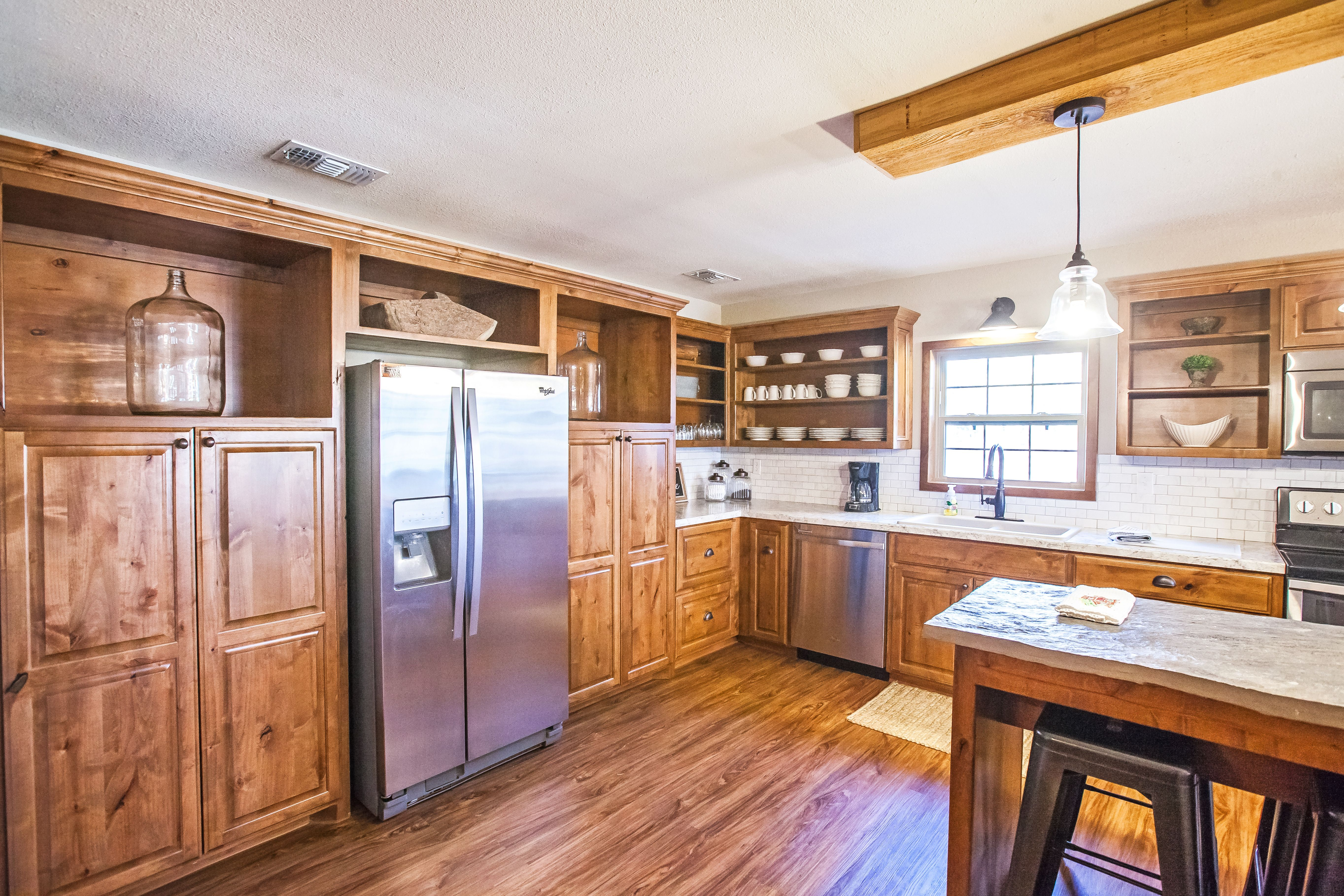 Beautiful kitchen in our Farmhouse Cabin vacation rental