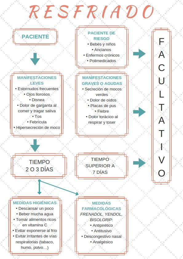 Diagrama de indicación farmacéutica para el resfriado   Farmacia ...