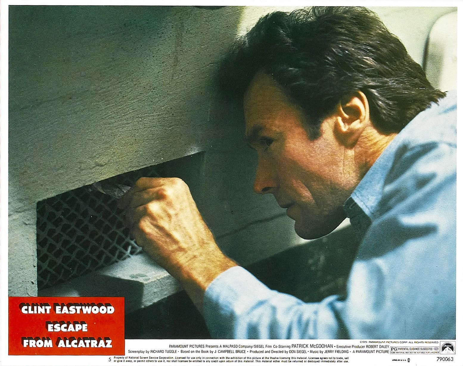 Escape From Alcatraz Lobby Card 1979 Clint Eastwood As Frank