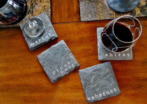 Red Wine Slate Coasters