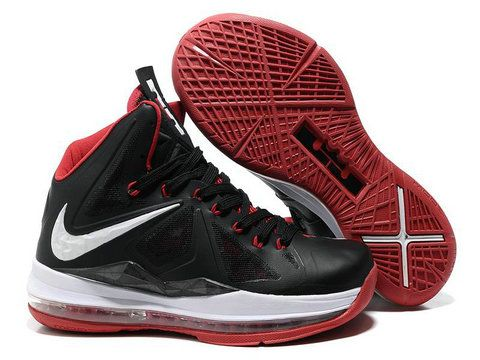 size 40 24082 c3bb5 Nike Air Max LeBron 10 Black Sport Red White Style Code  541100-002 It is  the first nike basketball shoe that uses Nike+ technology.