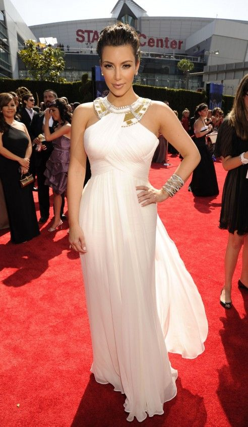 Image detail for -Kim Kardashian Marchesa Dress Emmys Red Carpet ...