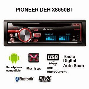 Pioneer Deh X8650bt Head Unit Mobil Terbaik Untuk Stereo System Usb Radio Head Unit Stereo System