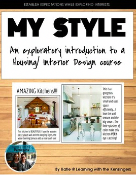 Showcase your design style great for interior housing family and consumer sciences classroom interiordesigning also free my styles lesson plan rh pinterest