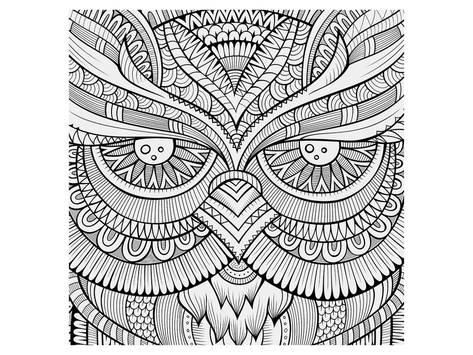Coloring Poster Symmetric Wing Arches Coloring Art By Anonymous 9x12in Coloring Canvas Owl Eyes Coloring Posters