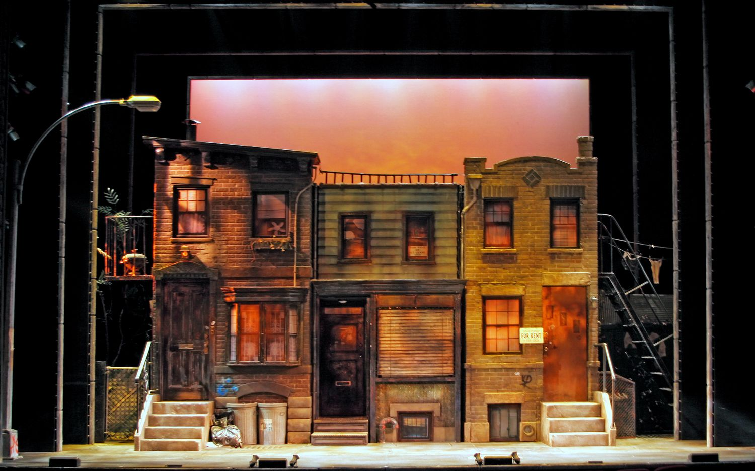 Avenue Q. John Golden Theatre. Scenic design by Anna Louizos. 2003