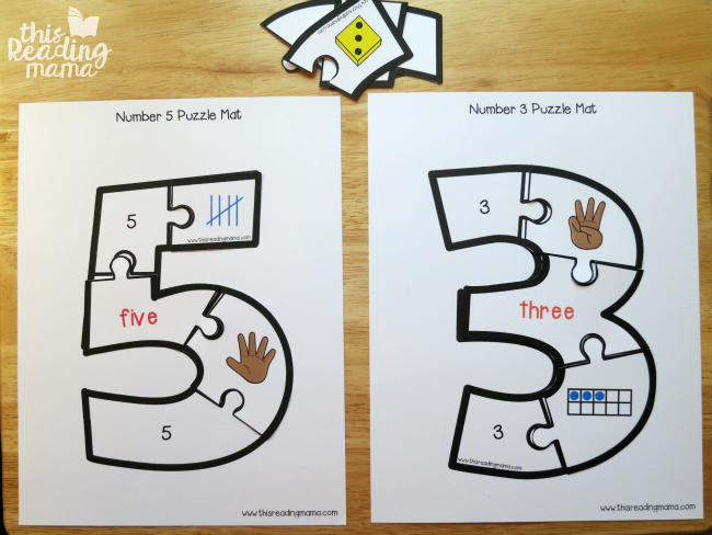 Adorable image in number puzzles printable