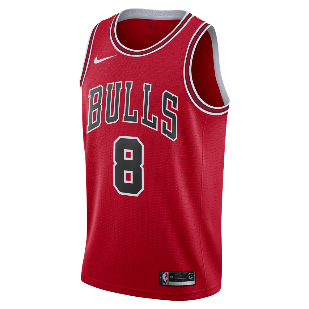 08db513a9a7b Zach LaVine Icon Edition Swingman Jersey (Chicago Bulls) Men s Nike NBA  Connected Jersey Size 2XL (Red)